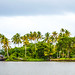 Picturesque Backwaters of Alleppey beneath Looming Clouds