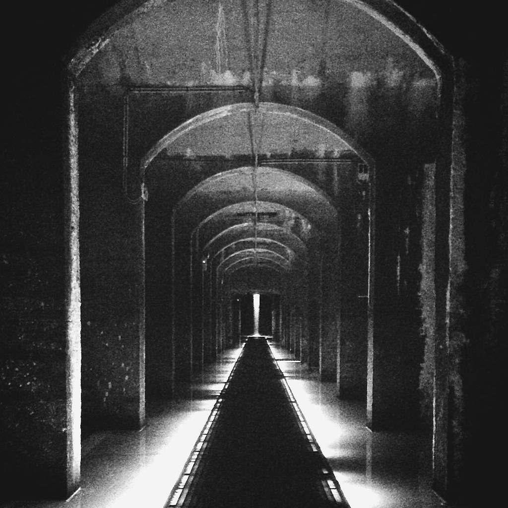 At The End Of The Tunnel. From a trip to #Cisternerne under Søndermarken in #Copenhagen. Lots of graphic photo-opportunities down there.