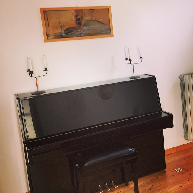There just happens to be a #piano at my #Airbnb stay!!! #winning #remoteyear #travel #Italy #Torino