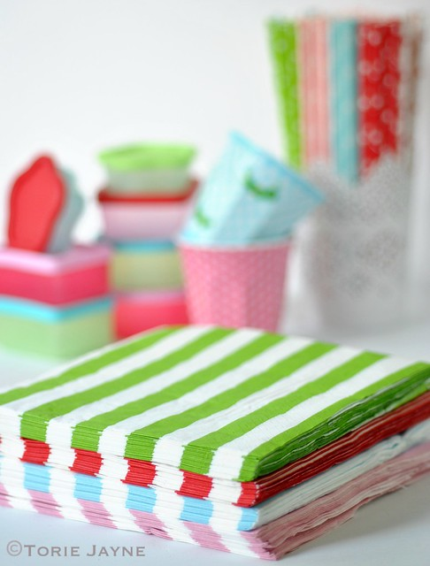 Striped napkins