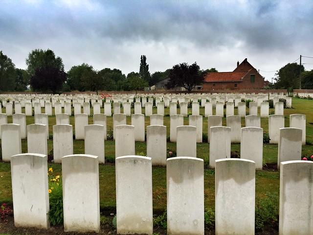 Cementerio en Fromelles (Nord-Pas de Calais, Francia)