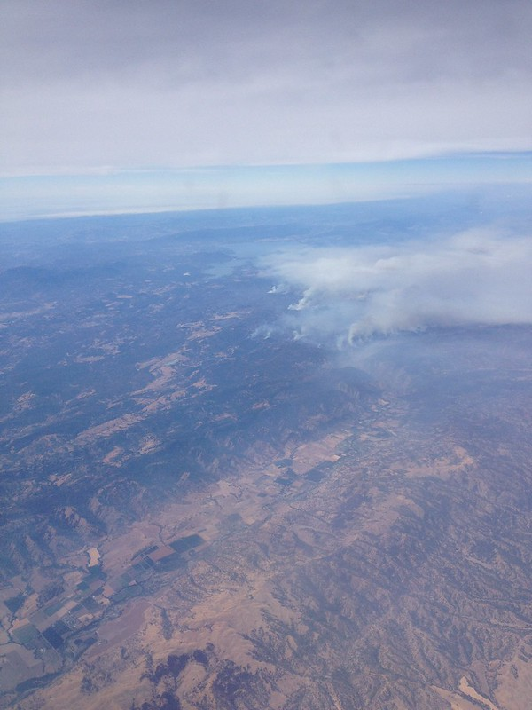 California Wildfires from Above