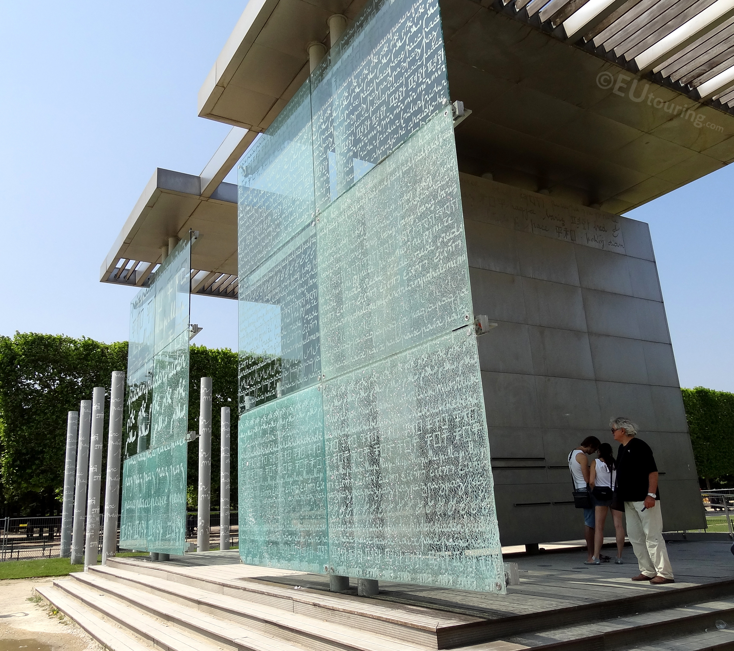 Glass panels of the Wall for Peace