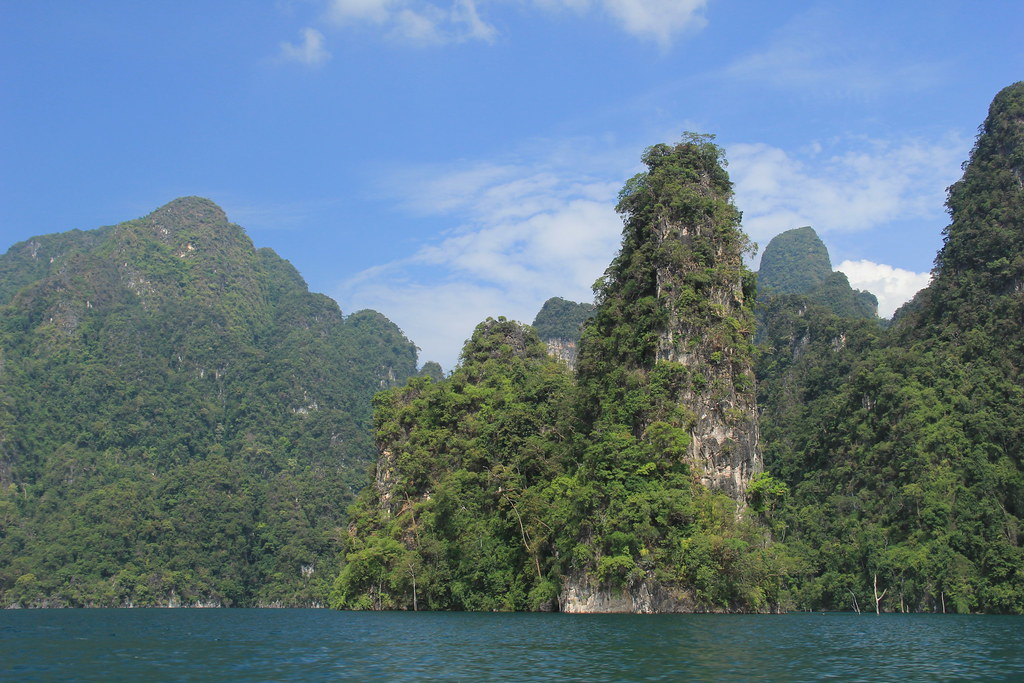 Karst scenery on route to Cheow Lan Lake