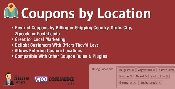 WooCommerce Coupons by Location v1.1
