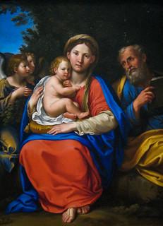 Francesco Albani, Holy Family with Angels, 1608-10