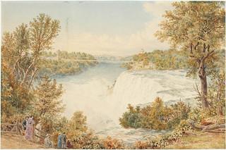 Niagara Falls from Goat Island (New York) / Les chutes Niagara vues de l'île de la chèvre (Goat Island), New York