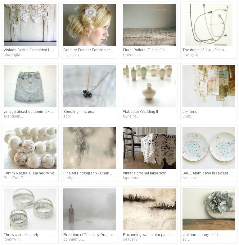 'feeling a wee bit hazy' - Etsy treasury curated by Emma Lamb