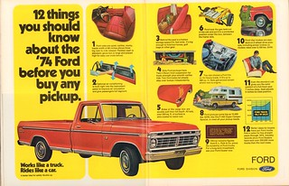 1974 Ford Pickup Truck F100 Advertisement Motor Trend October 1973