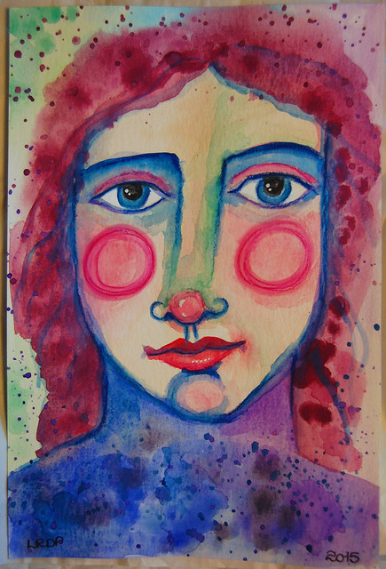 Week 24 - Intuitive Watercolour Face