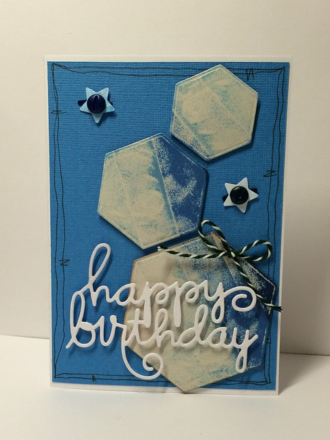 Denim Blue birthday card by StickerKitten