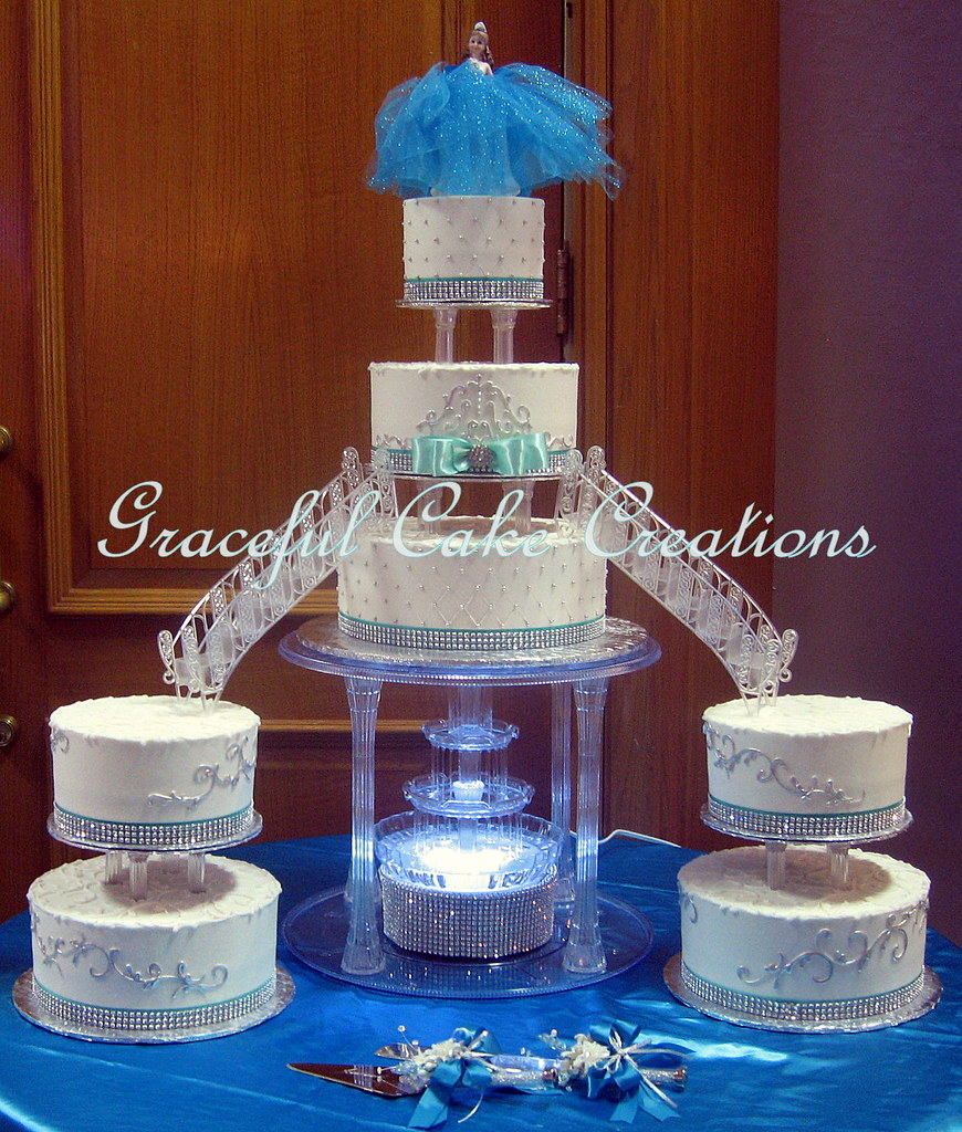 Silver And Tiffany Blue Cake