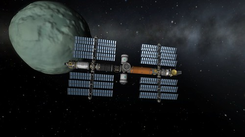 Keats Station in Orbit Around Minmus