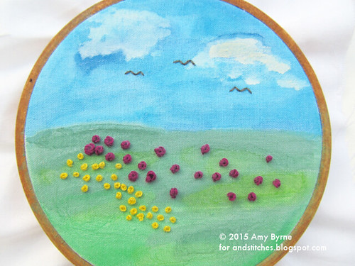 Watercolor and Embroidery with Amy Byrne
