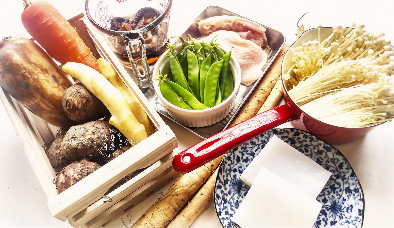 孤身廚房-食譜書《常備菜》試作——筑前煮、醬煮金針菇。甜滋滋溫暖和風味2