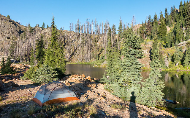 Shadow Lake camp