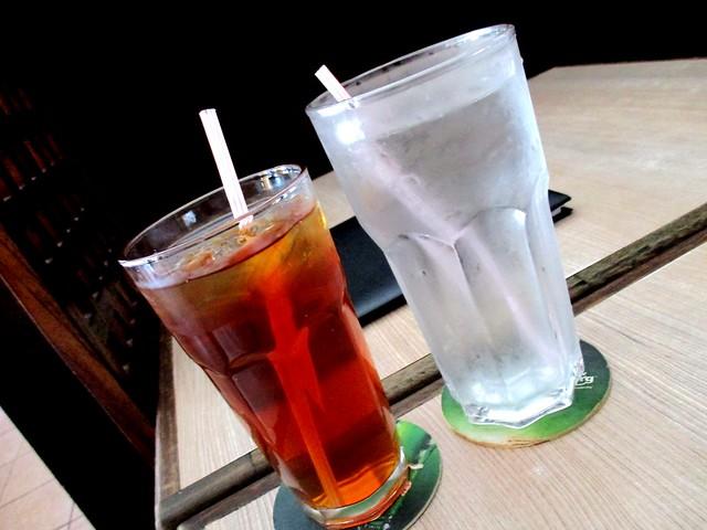 Bug and bee tea & water
