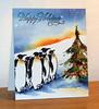 Pingouins avec sapin 001