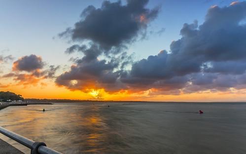 sea sun seascape water clouds sunrise mudefordquay