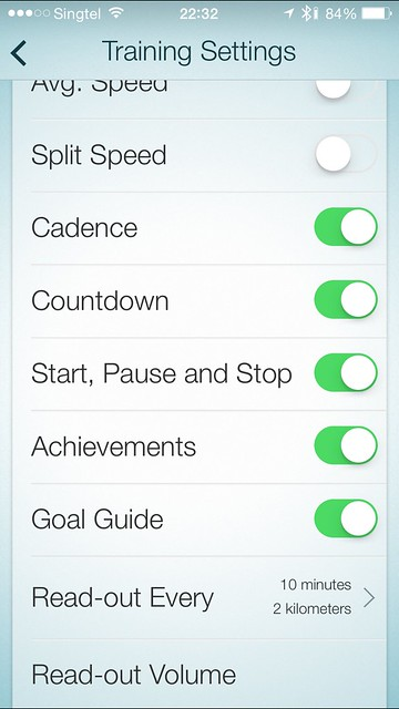 Jabra Sport iOS App - Training Settings