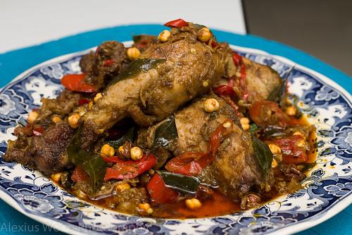 Ayam Kacang Putih/Spicy Chicken with Garbanzo