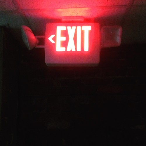 light dark whatever exit exitsign lightedsign exitsights