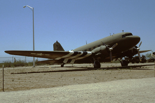 Douglas C-47 Dakota at the Pima Air & Space Museum, 1980