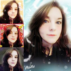 Not sure I'll be one for blue lenses. Messing with Meitu.