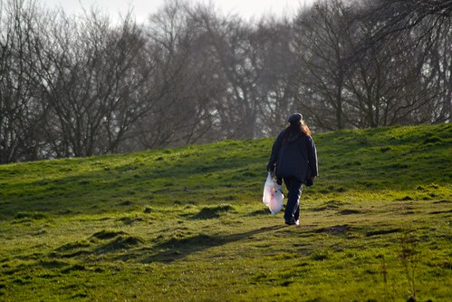 Walking across Hampstead Heath, London