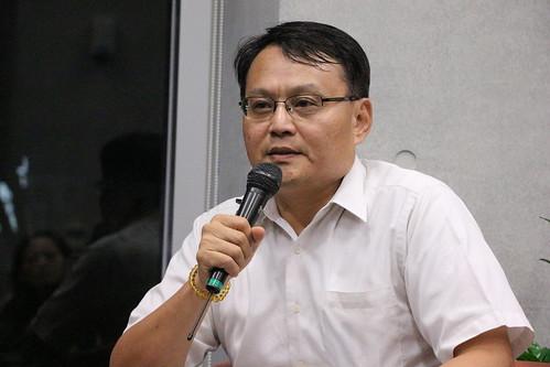 行政院環境保護署主任秘書謝燕儒提出很多空汙減量的觀點,並會努力持續監測減汙的成效。攝影:黃小玲