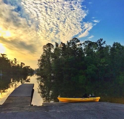 morning sunrise river pier fishing dock kayak florida fl milton blackwater hdr iphone riverlife snapseed