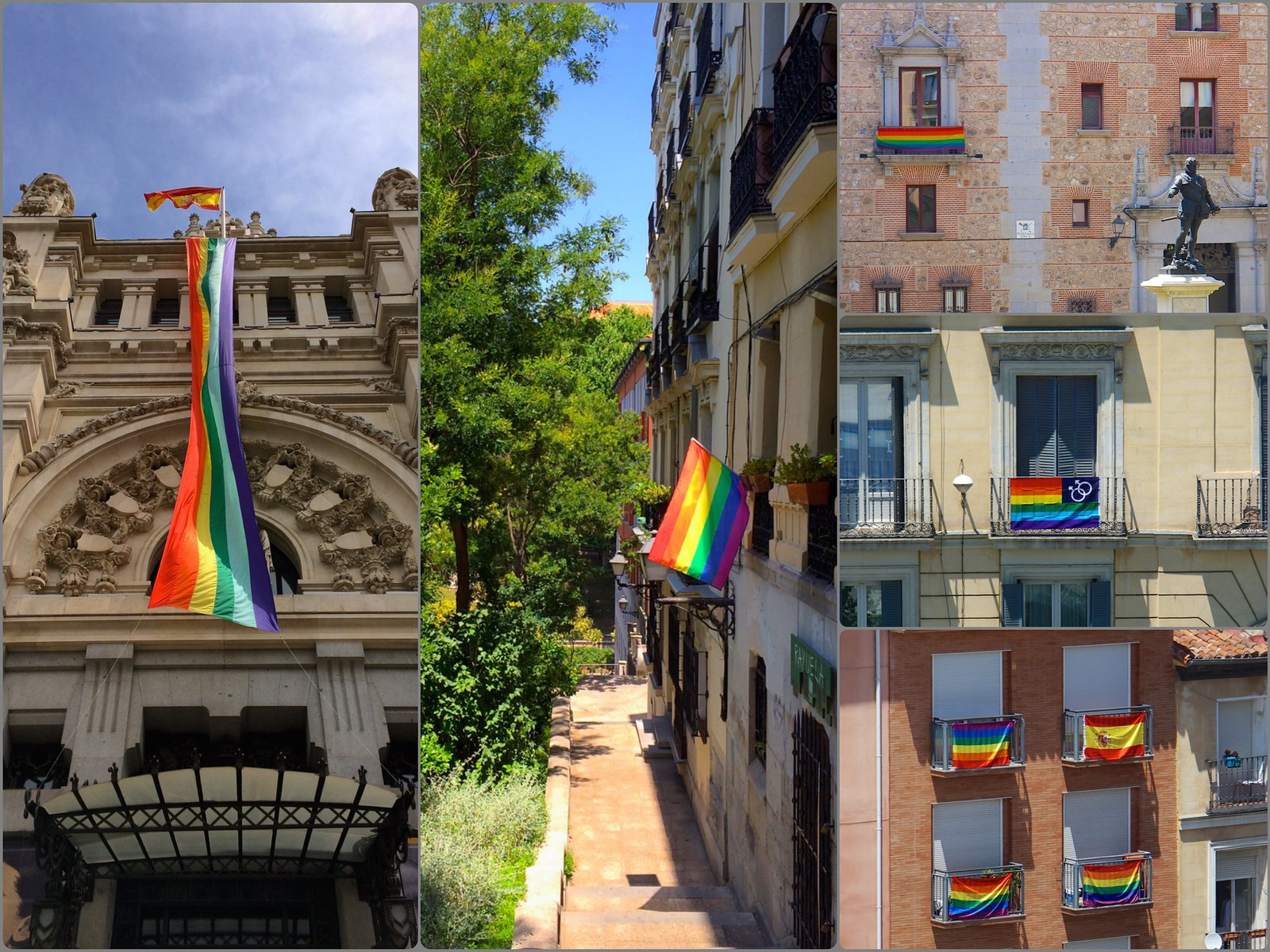 Madrid Pride Orgullo 2015 Power of Flags Collage 587871