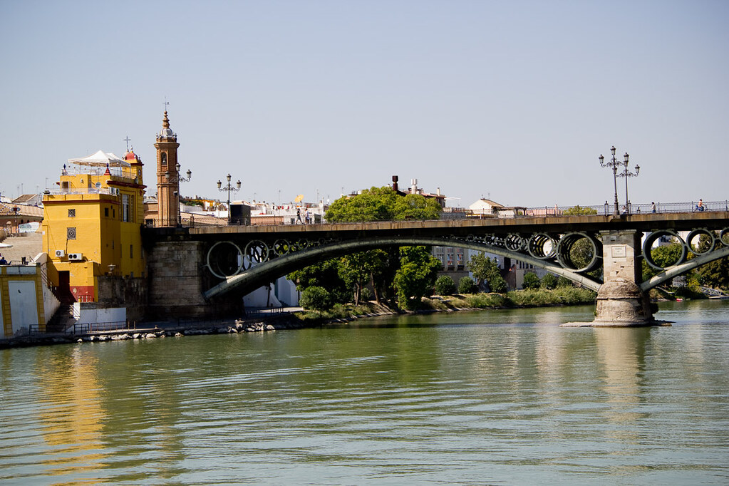 Seville from boat ride on Guadalquivir River