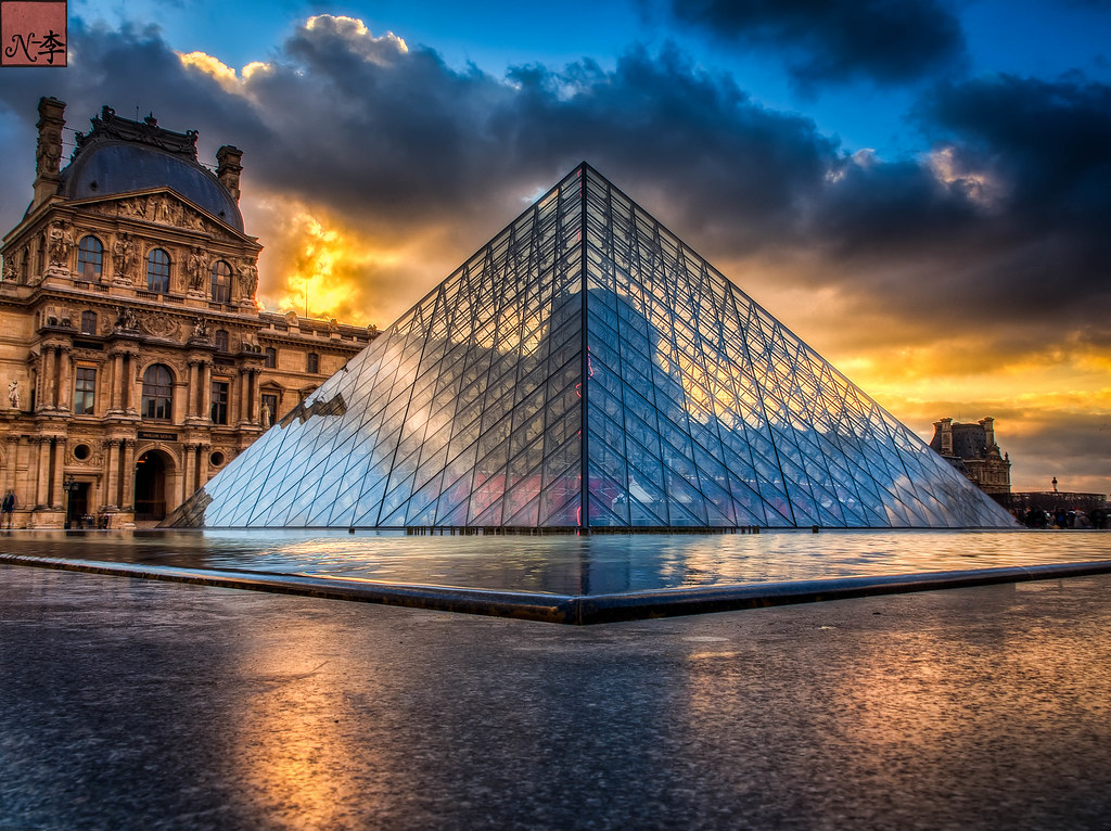 The Louvre, Museum sunset in Paris  (2 of 1)