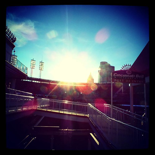 Cincinnati Bell Riverboat Deck at GABP. #Latergram