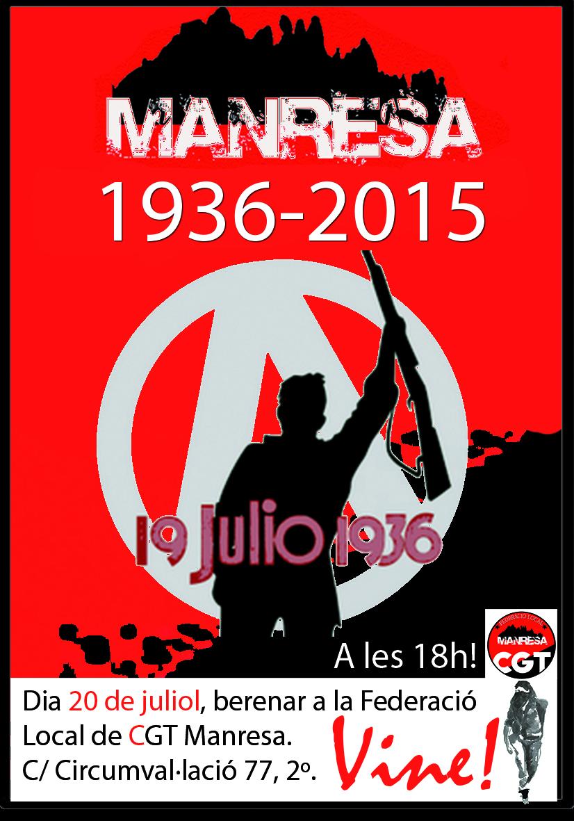 berenar per commemorar el 19 de juliol de 1936 a Manresa