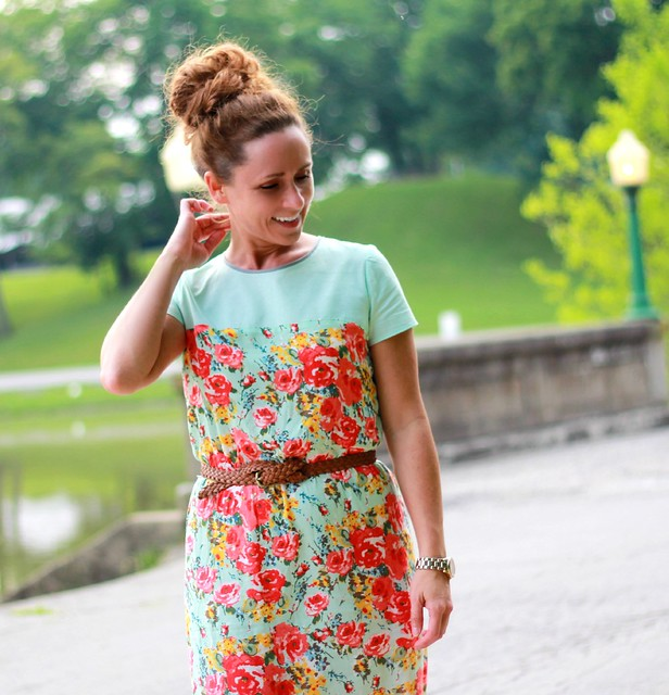 how to refashion a strapless dress to be modest via kristina j blog