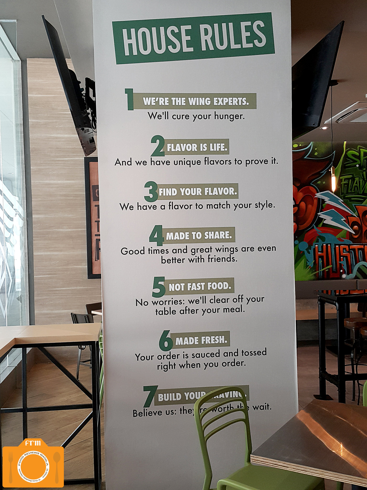 Wingstop house rules