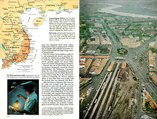 National Geographic September 1964 - Slow Train Through Viet Nam's War (3) - by Howard Sochurek
