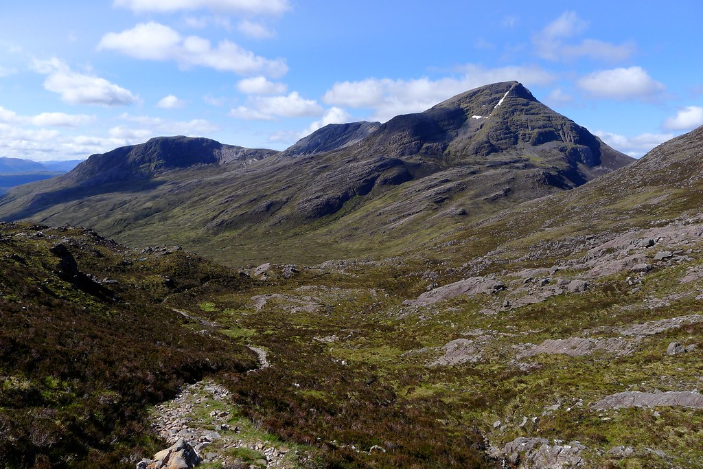 Maol Chean-dearg from the Bealach Ban path