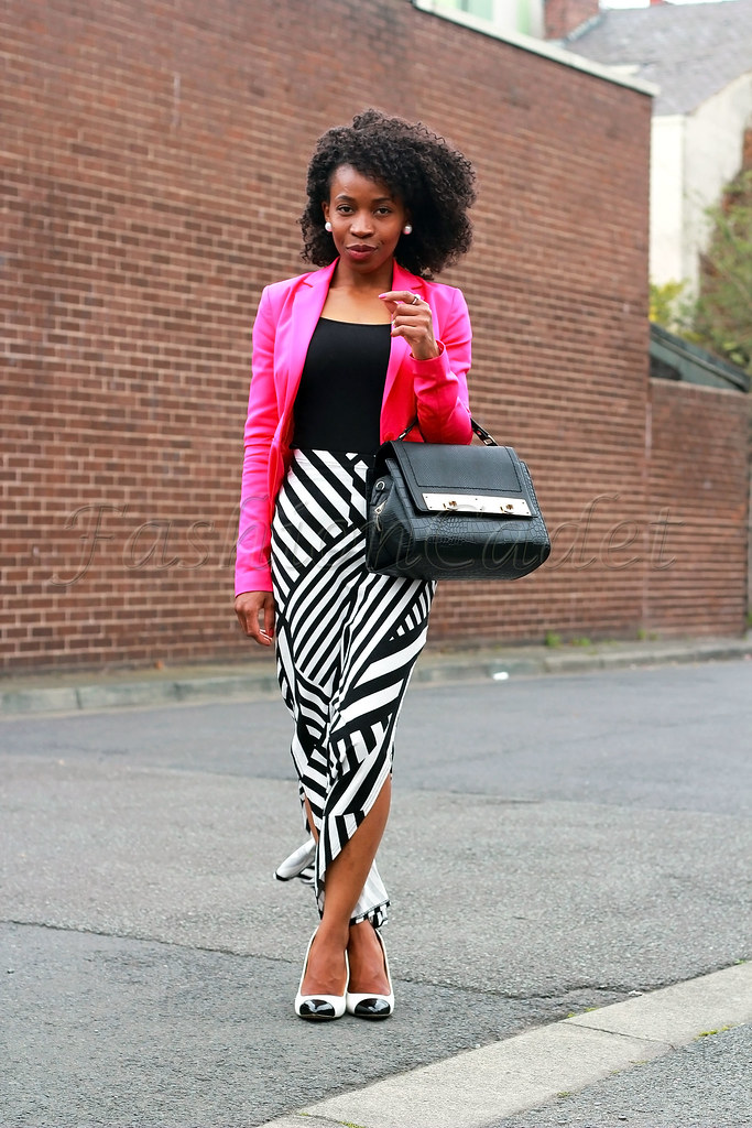 double-side-split-striped-skirt-with-pink-blazer