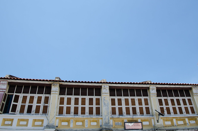 Row of old shop house in Penang