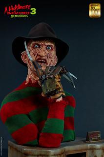 《半夜鬼上床3》特效班底親手打造超逼真的【佛萊迪·庫格 】1:1胸像 Freddy 1:1 scale bust