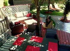 Salon et table  au jardin du Champayeur.