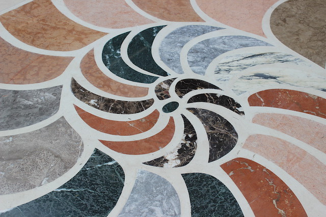 Nautilus marble floor mosaic, London.
