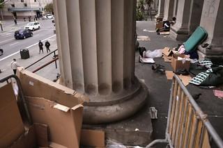 Homeless at Old San Francisco Mint