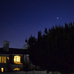 Obligatory night sky pic #Jupiter #venus #lajolla #sandiego