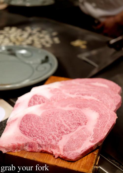 Kobe wagyu beef sirloin at Wakkoqu, Kobe, Japan