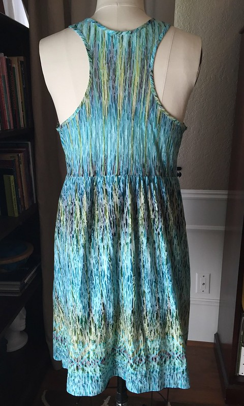 Teal and Mint Summer Dress - Before