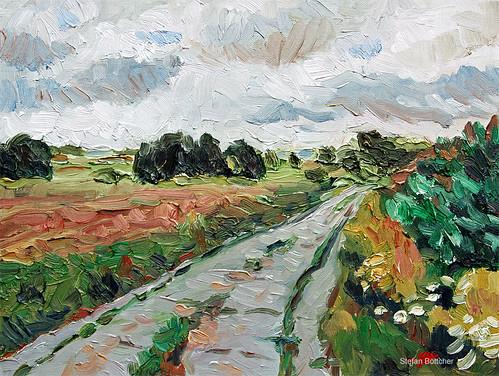 Wolkenverhangene Landschaft - Wendland